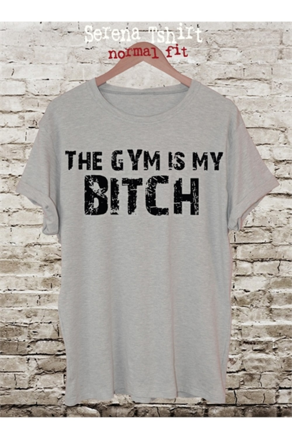 THE GYM IS MY BITCH Printed T shirt | Men Tank top | Sport Tee | Gym Tee